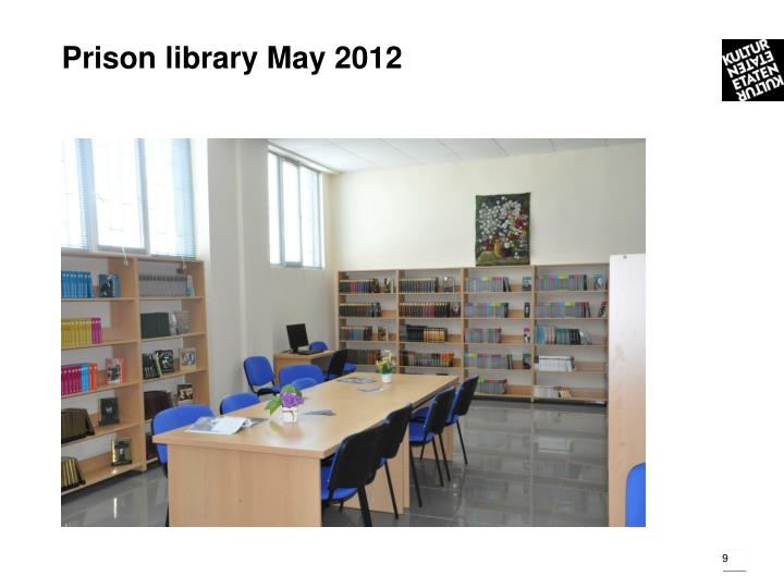 Prison library May 2012