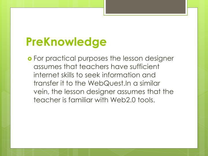 PreKnowledge