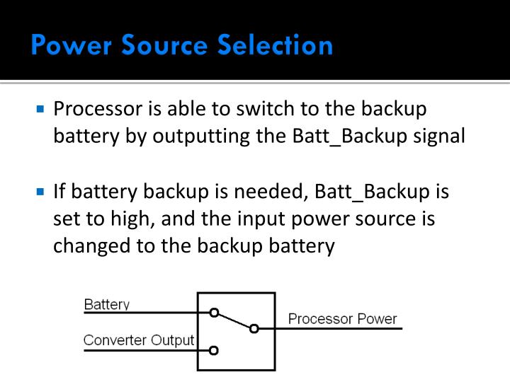 Power Source Selection