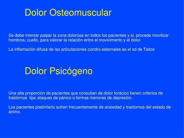 Dolor Osteomuscular
