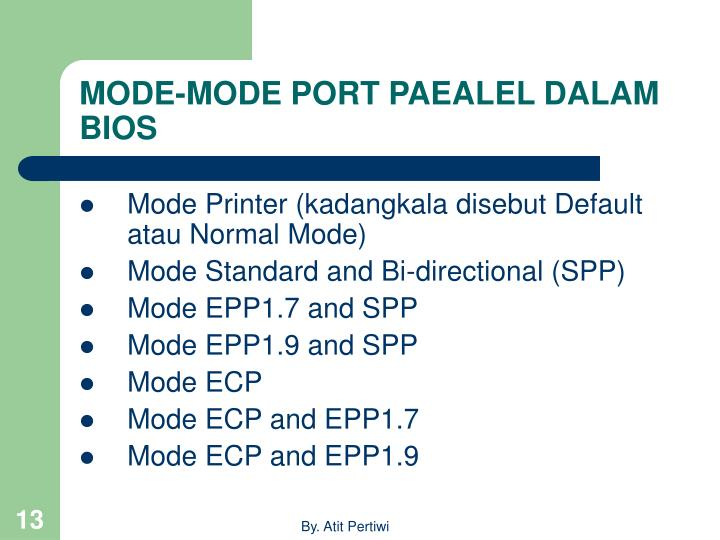MODE-MODE PORT PAEALEL DALAM BIOS