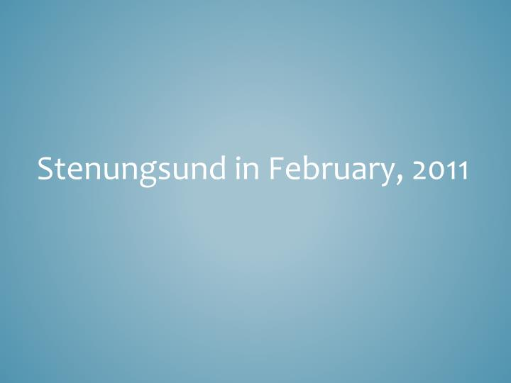 Stenungsund in February, 2011
