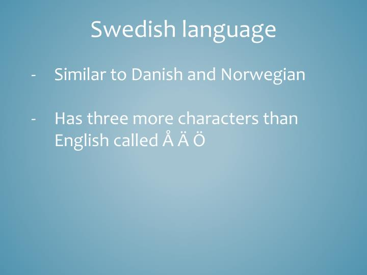 Swedish language