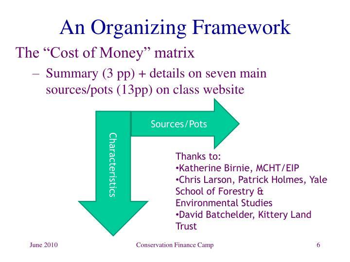 An Organizing Framework