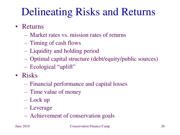 Delineating Risks and Returns