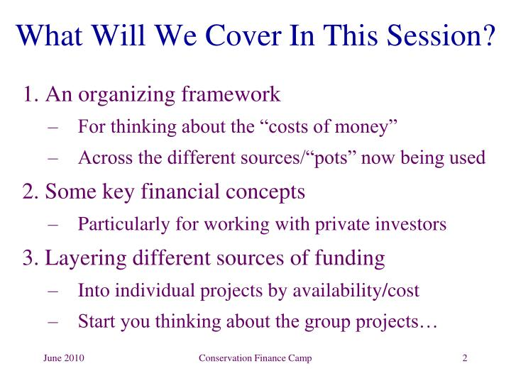 What Will We Cover In This Session?