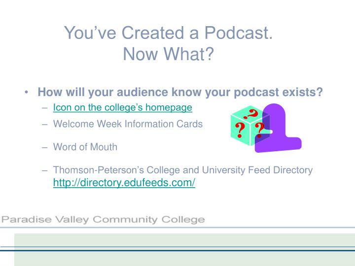 You've Created a Podcast.