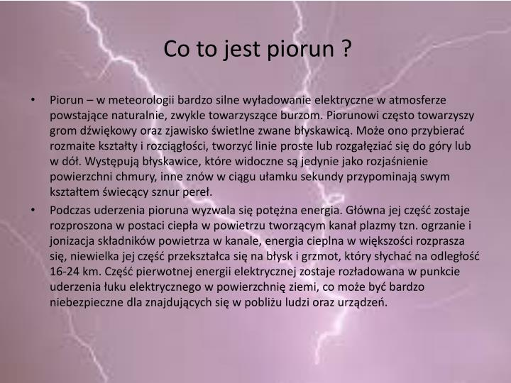 Co to jest piorun