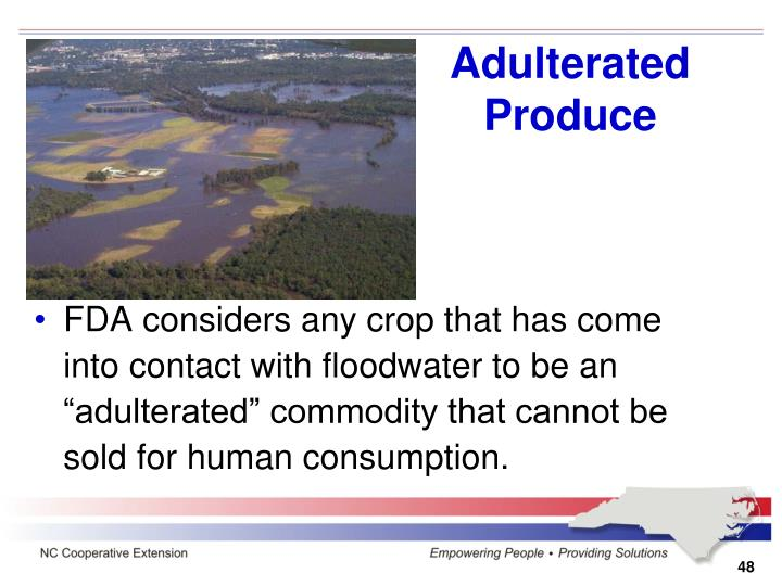 Adulterated Produce