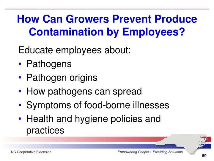 How Can Growers Prevent Produce Contamination by Employees?
