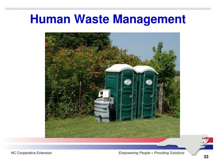 Human Waste Management