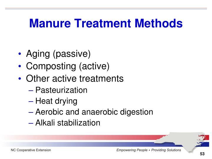 Manure Treatment Methods