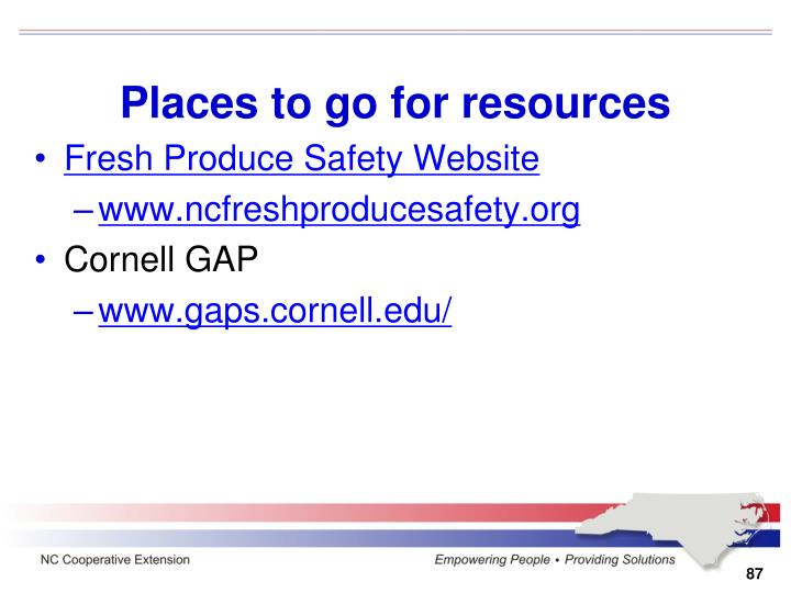 Places to go for resources