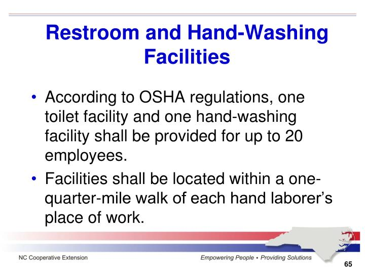 Restroom and Hand-Washing Facilities