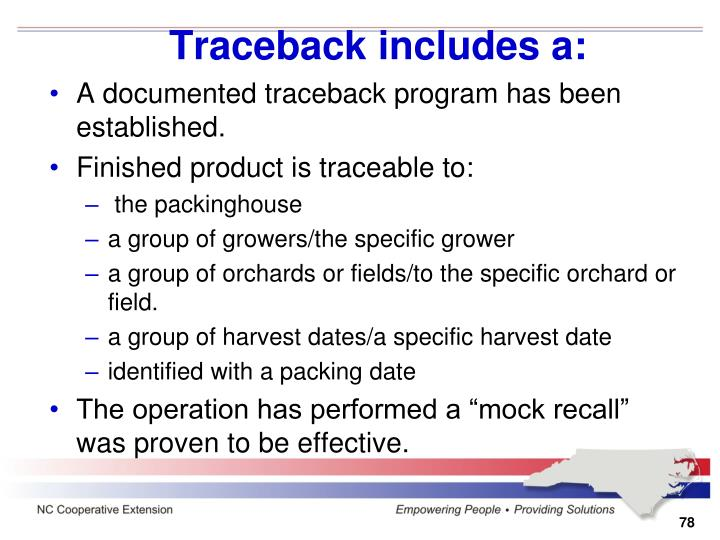 Traceback includes a: