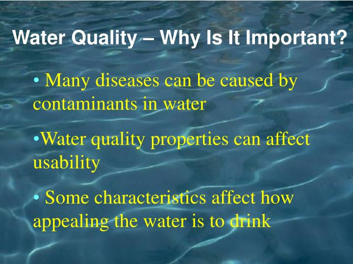 Water Quality – Why Is It Important?