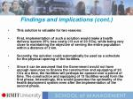 findings and implications cont