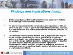 findings and implications cont1