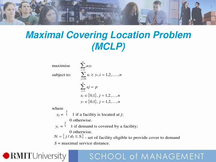Maximal Covering Location Problem (MCLP)
