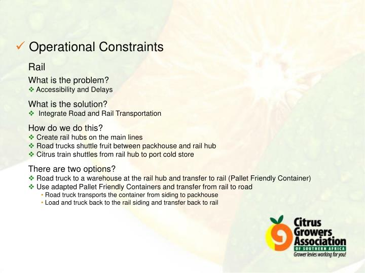 Operational Constraints