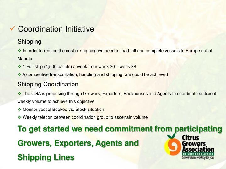 Coordination Initiative