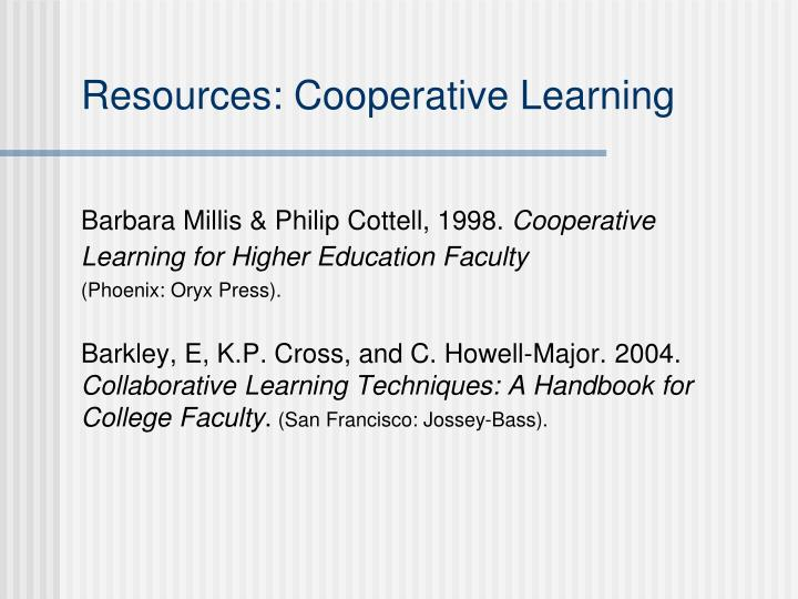 Resources: Cooperative Learning