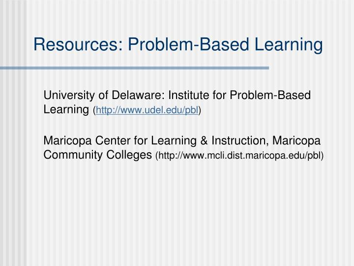 Resources: Problem-Based Learning