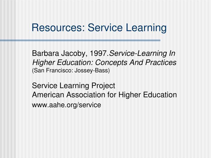 Resources: Service Learning