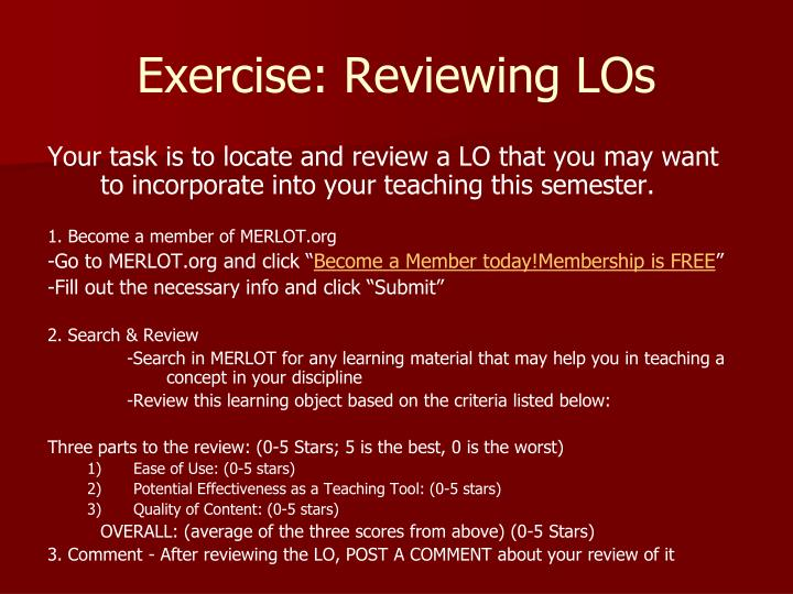 Exercise: Reviewing LOs