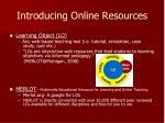 introducing online resources