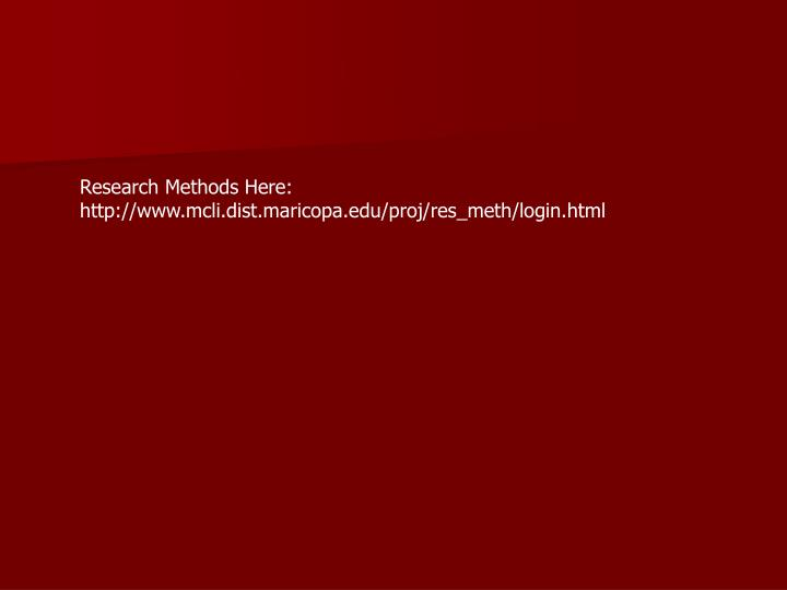 Research Methods Here: