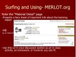 surfing and using merlot org1