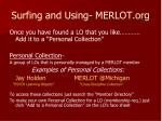 surfing and using merlot org3