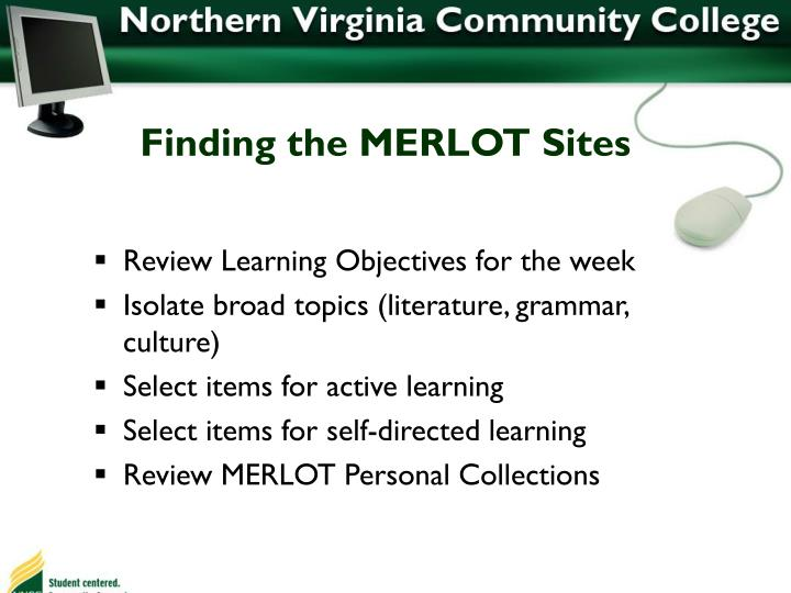 Finding the MERLOT Sites