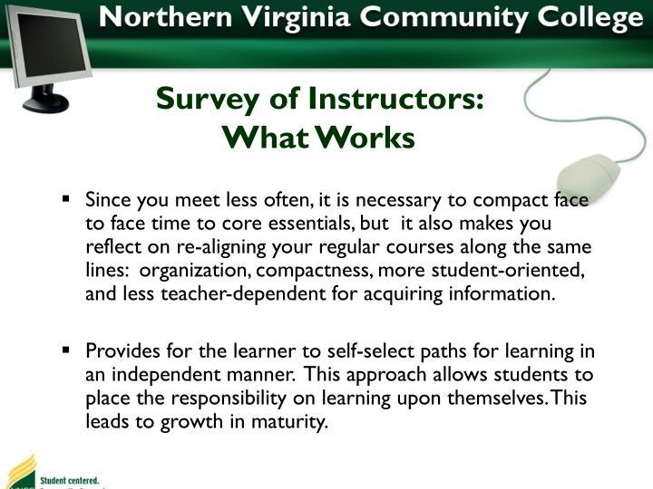 Survey of Instructors: