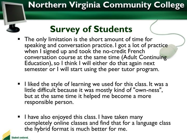Survey of Students