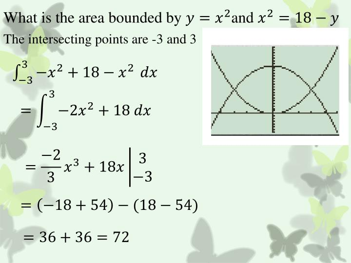 What is the area bounded by