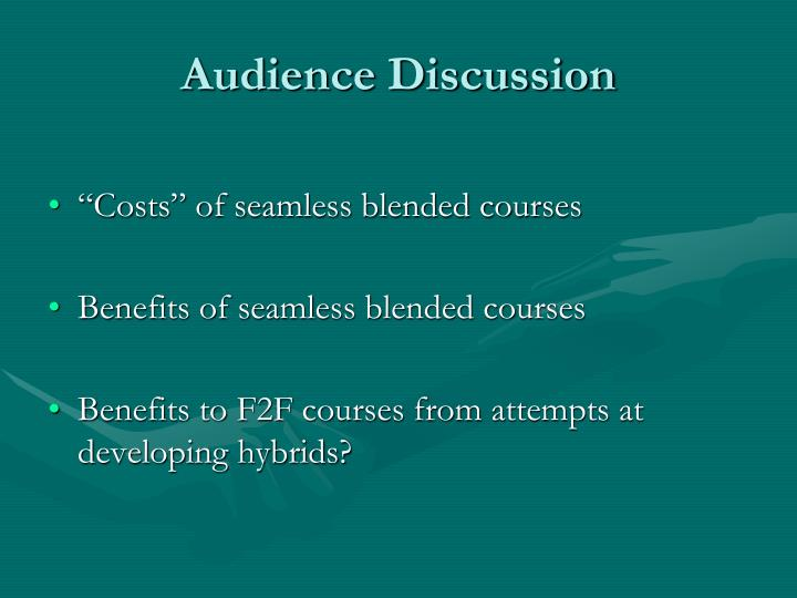 Audience Discussion