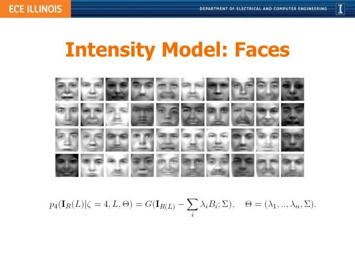 Intensity Model: Faces