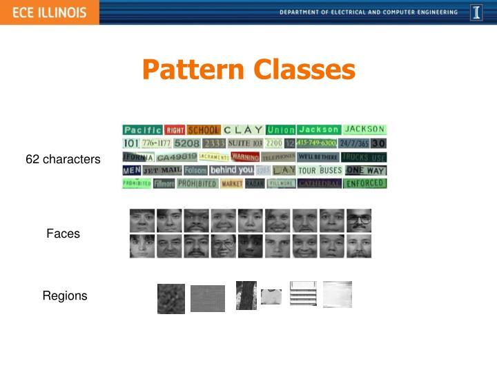 Pattern Classes