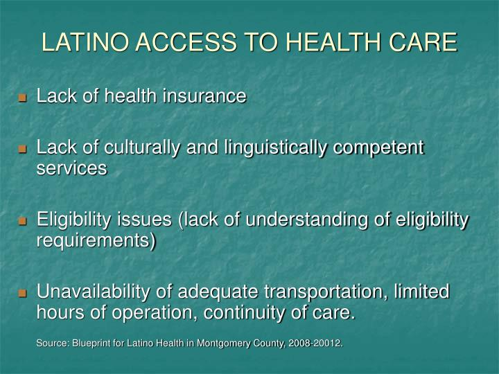 LATINO ACCESS TO HEALTH CARE