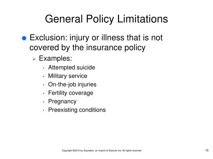 General Policy Limitations