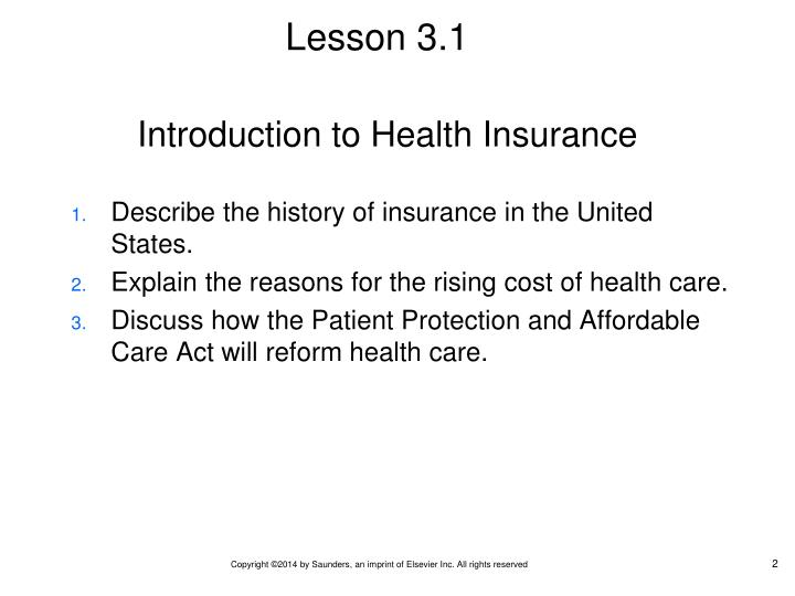 Introduction to Health Insurance