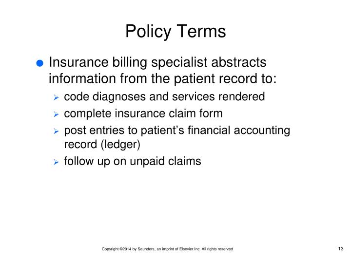 Policy Terms