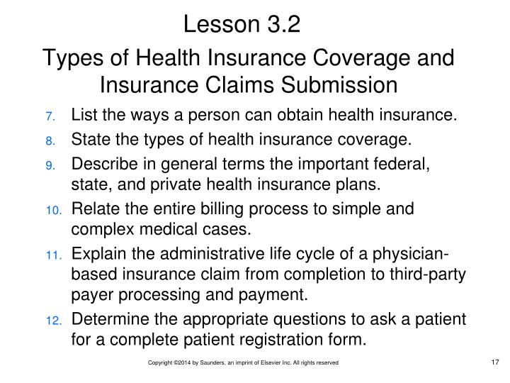 Types of Health Insurance Coverage and Insurance Claims Submission