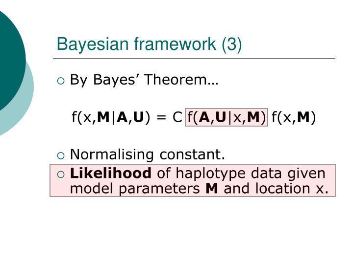 Bayesian framework (3)