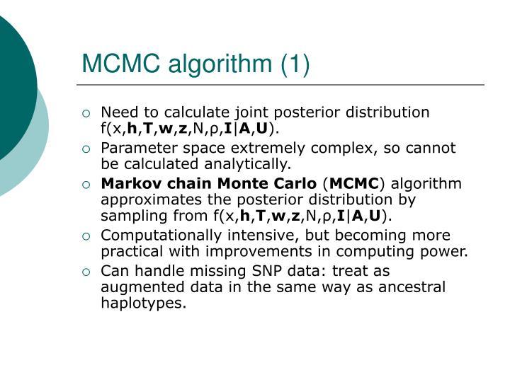 MCMC algorithm (1)