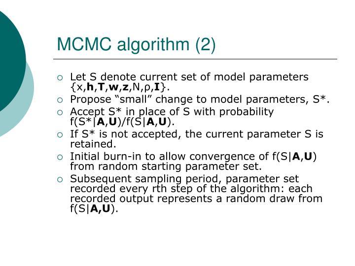 MCMC algorithm (2)