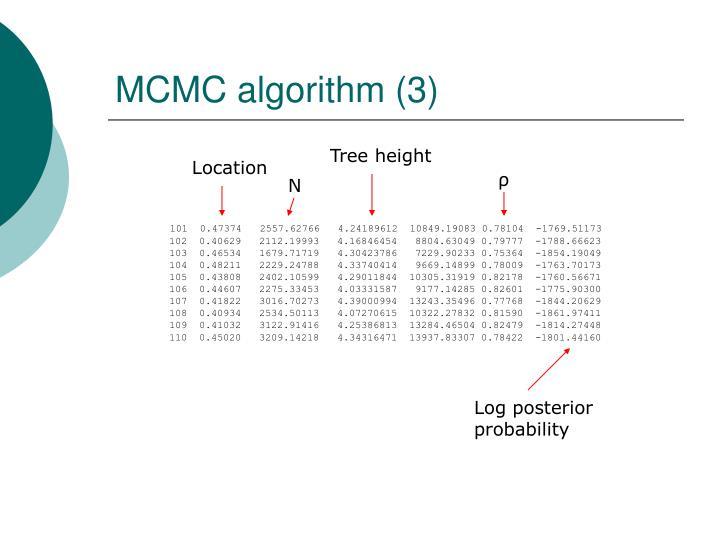 MCMC algorithm (3)