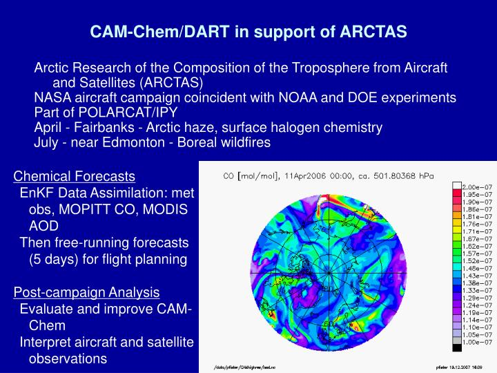CAM-Chem/DART in support of ARCTAS